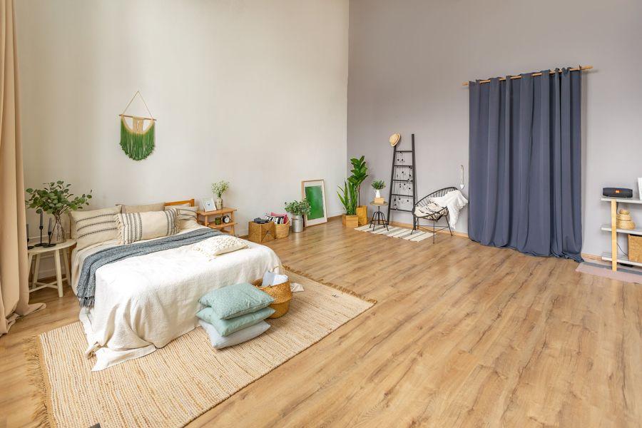 dormitorio suelo madera
