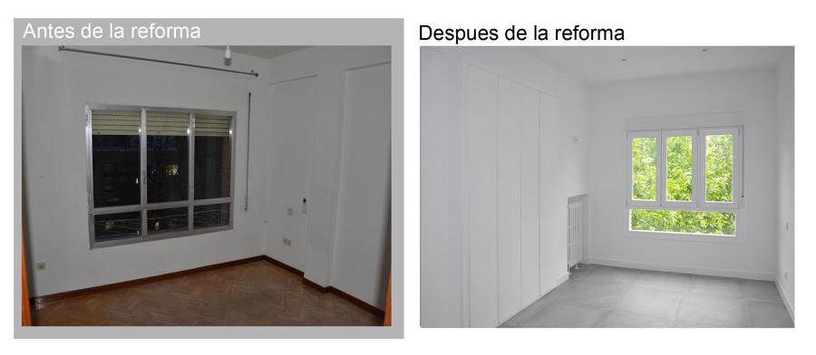 Dormitorio Suite antes y despues