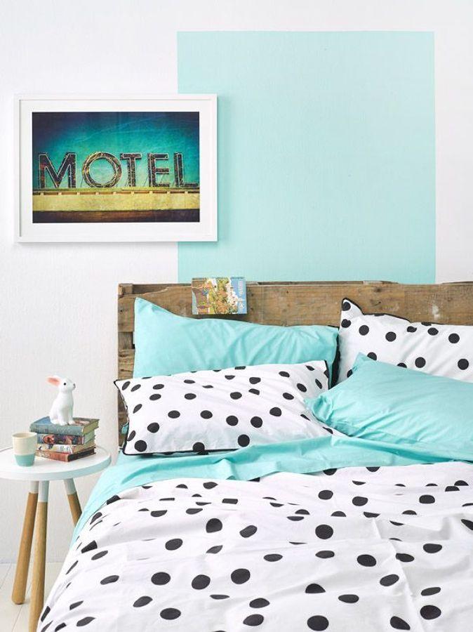 dormitorio tonos agua marina