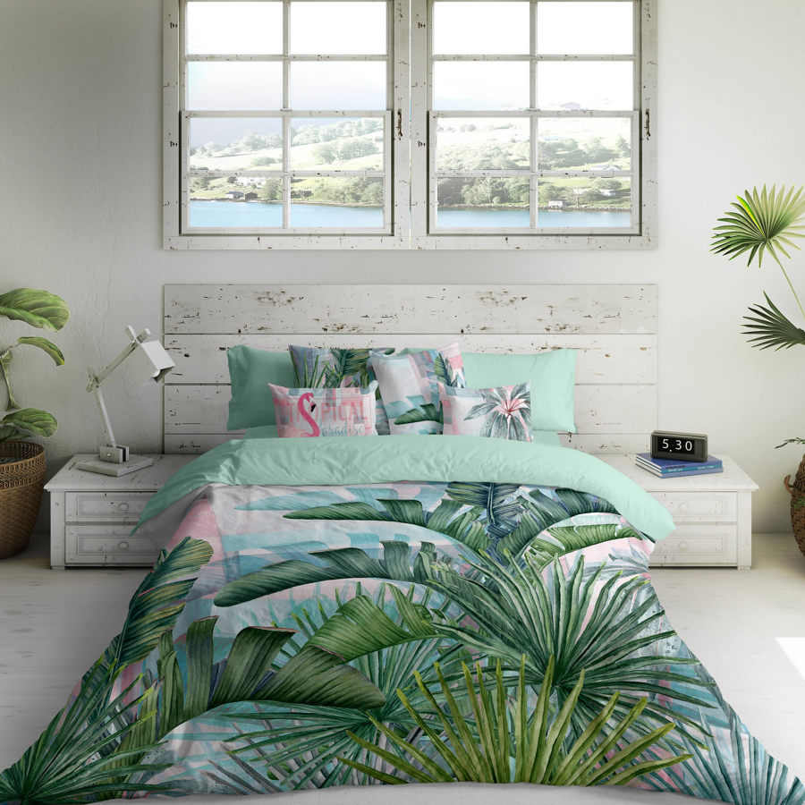 dormitorio tropical