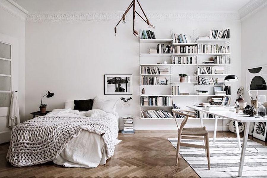 Foto dormitorio y estudio estilo n rdico de miv for Dormitorio juvenil estilo nordico