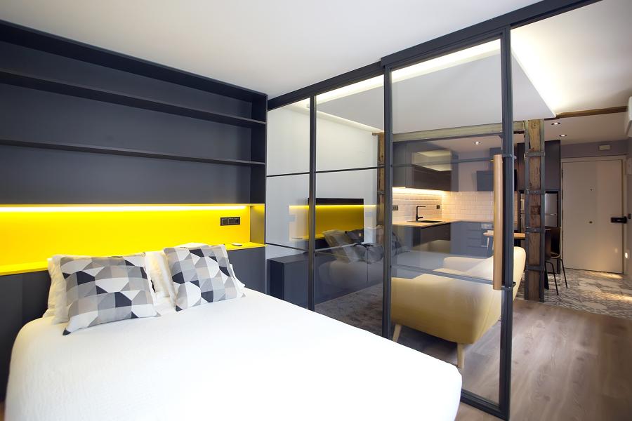 Dormitorio y salón