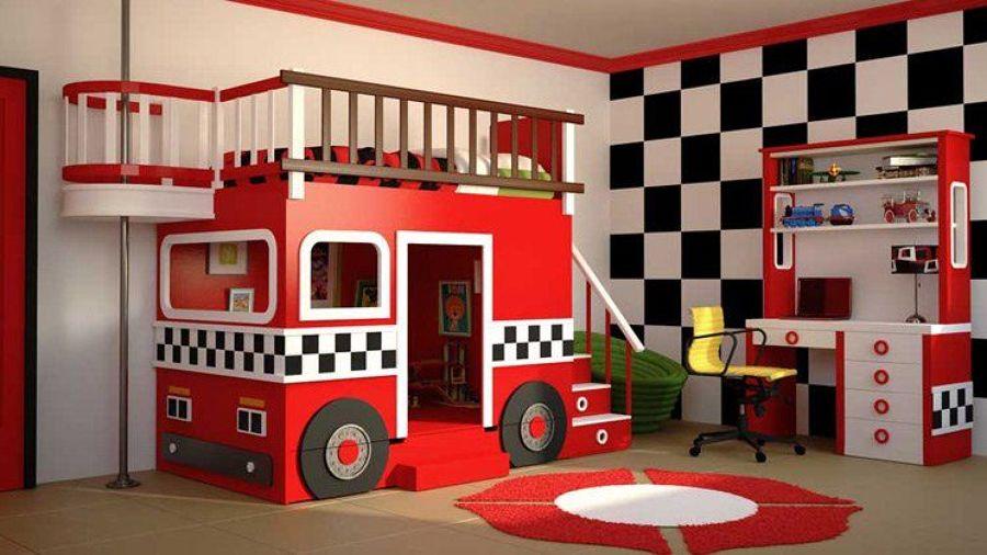 Dormitorios con cama de coche