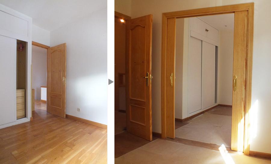 Dormitorios de los niños antes y después de la reforma