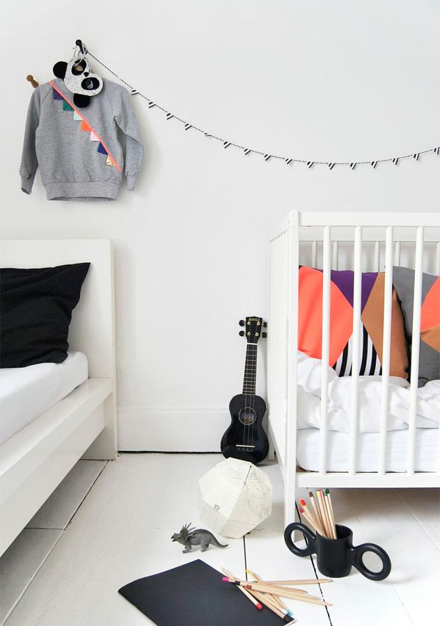 ukele en dormitorio infantil