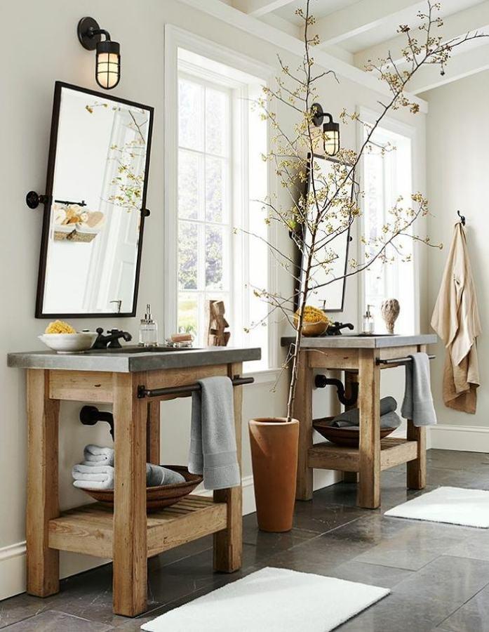 dos lavabos en bao