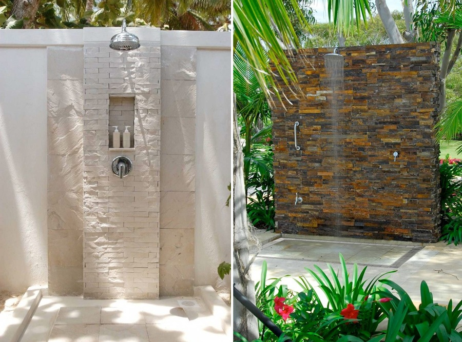 Foto ducha de piedra natural de miriam mart 878688 for Come costruire una cabina di pietra