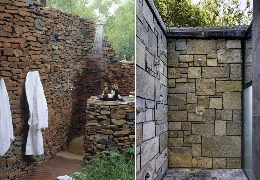ducha de piedra natural