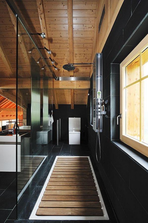 Duchas madera moderna