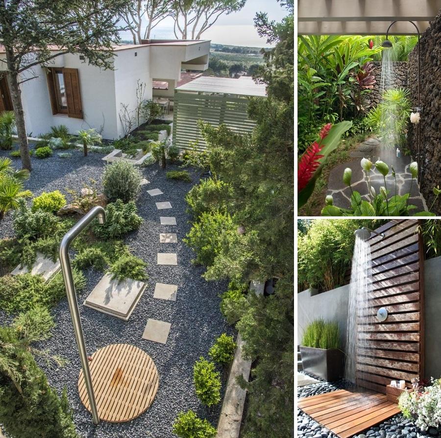Disfruta de la ducha en tu jard n ideas decoradores - Duchas exteriores para piscinas ...
