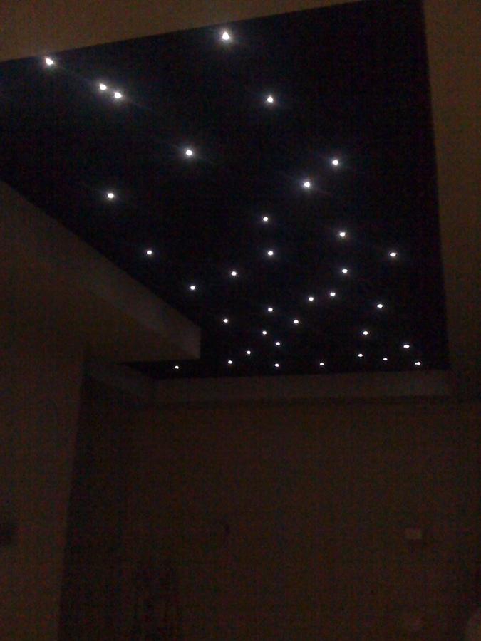 efecto de techo realizado con leds