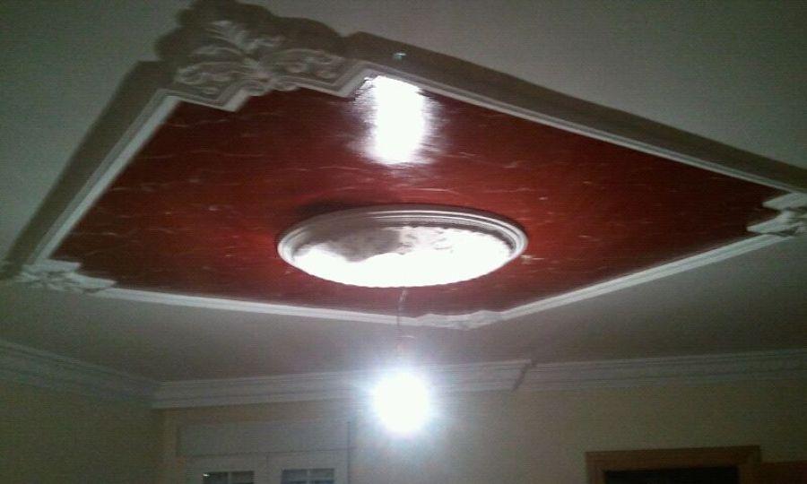 Foto efecto marmol con marco de escayola en techo de - Pintura efecto marmol ...