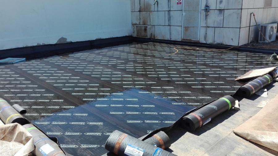 Ejecución de impermeabilización de cubierta