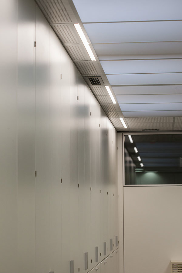 Ejemplo de iluminación de pasillo