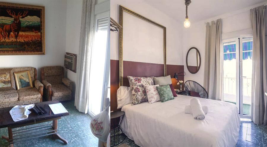 El antes y después de un dormitorio