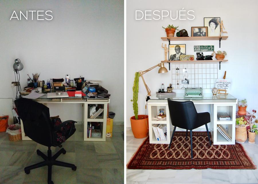 El antes y después de una zona de trabajo