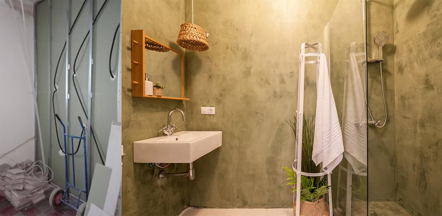 El antes y después del baño con ducha