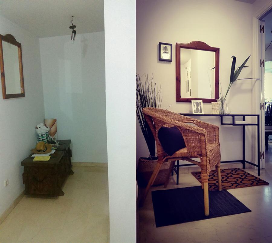 El antes y después del hall de entrada