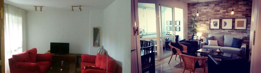 El antes y después del salón