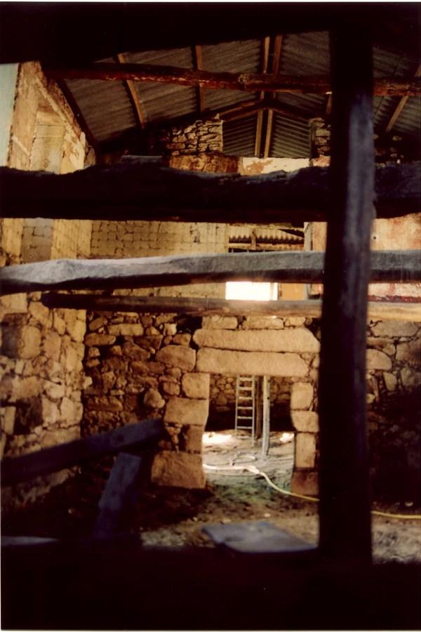 El edificio durante las obras.