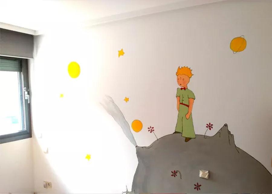 El principito, mural