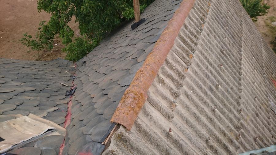 El tejado antes