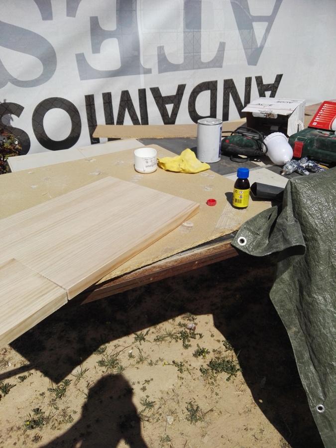 Elaboracion de encimera de pino natural