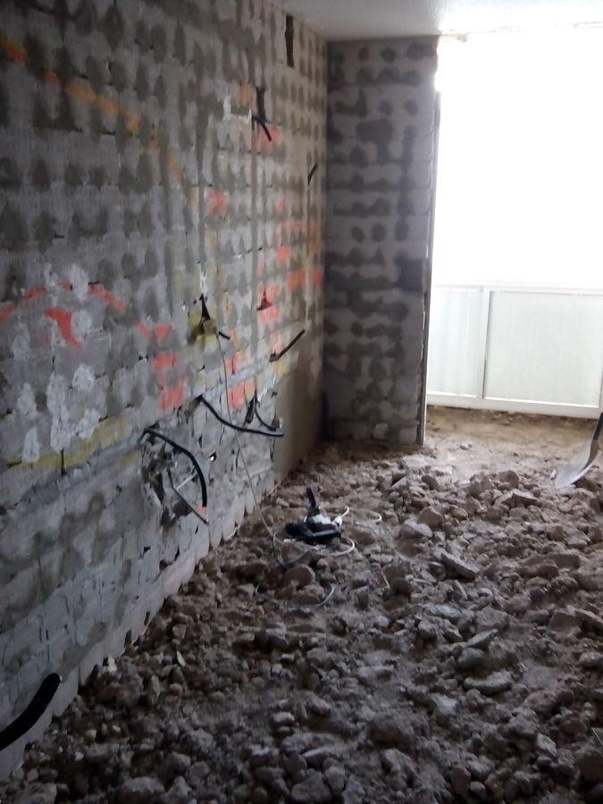 Eliminacion de antiguo pavimento colocado a la terraja