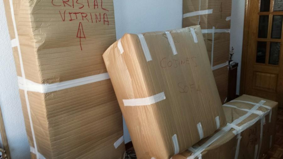 Embalaje marítimos-guardamuebles