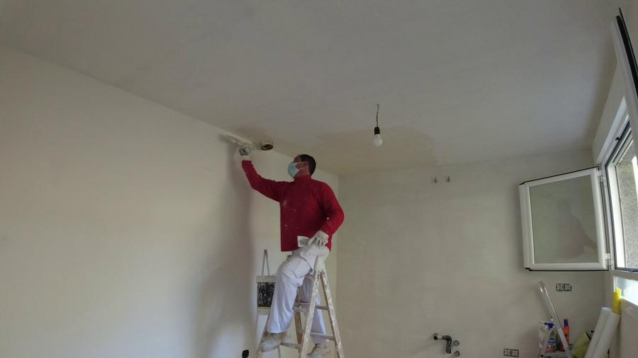 emplasteciendo el techo