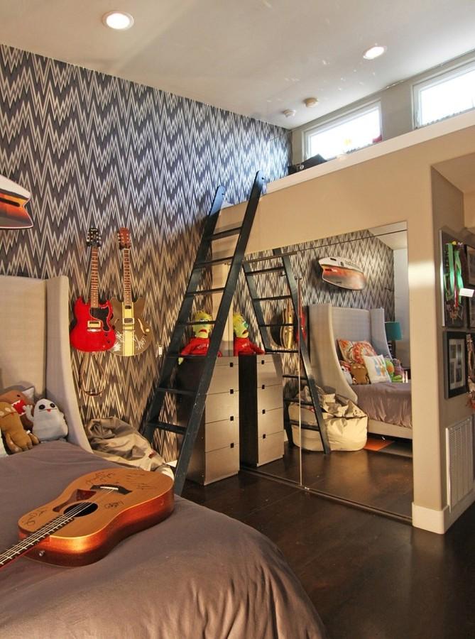 Guitarras en dormitorios juveniles