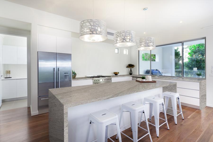 Encimera de cocina en granito river white cupa stone - Materiales encimeras cocina ...