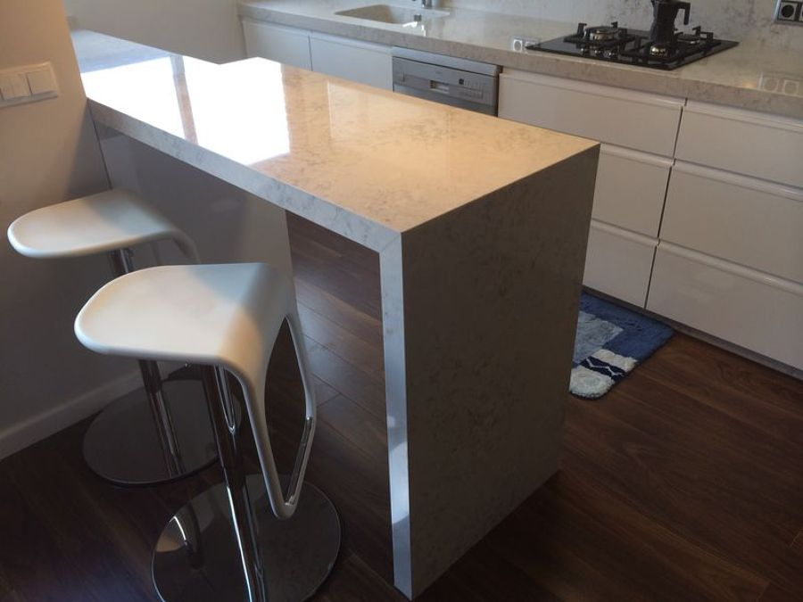 Encimera de cocina en silestone pulsar ideas marmolistas - Mesa extraible cocina ...