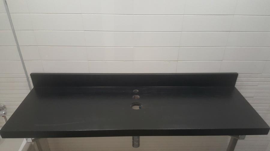 Encimera de lavabo pintada en poliuretano