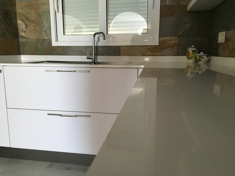 Encimera en solid surface