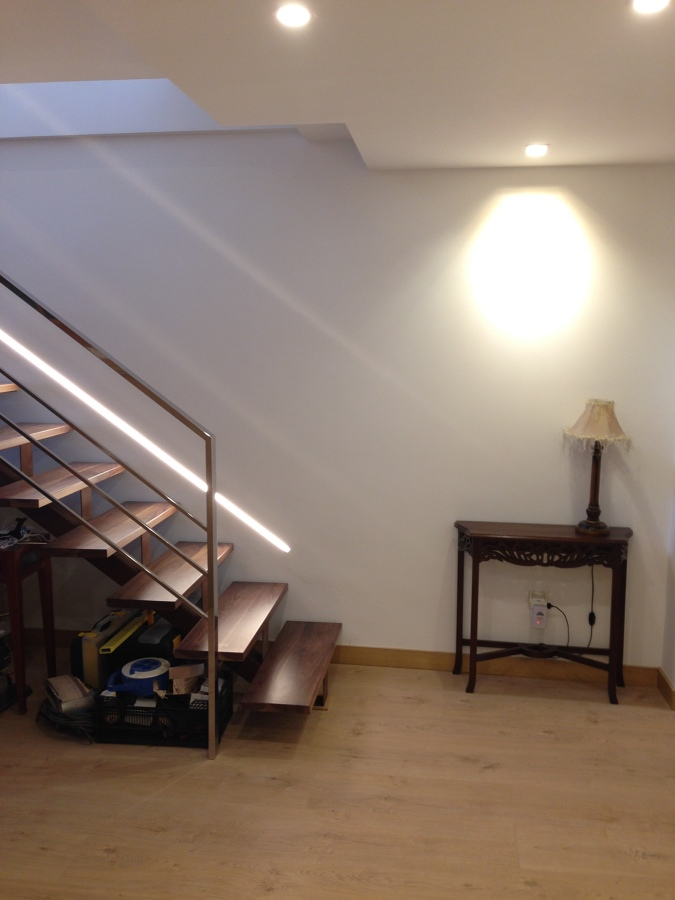 Entrada hacia escaleras