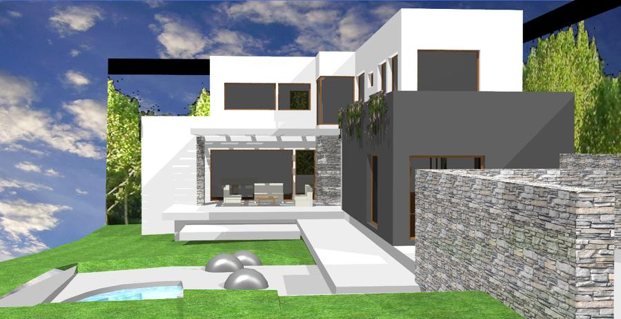Foto entrada de arquitectura paloma iniesta 249502 for Casa minimalista torrelodones