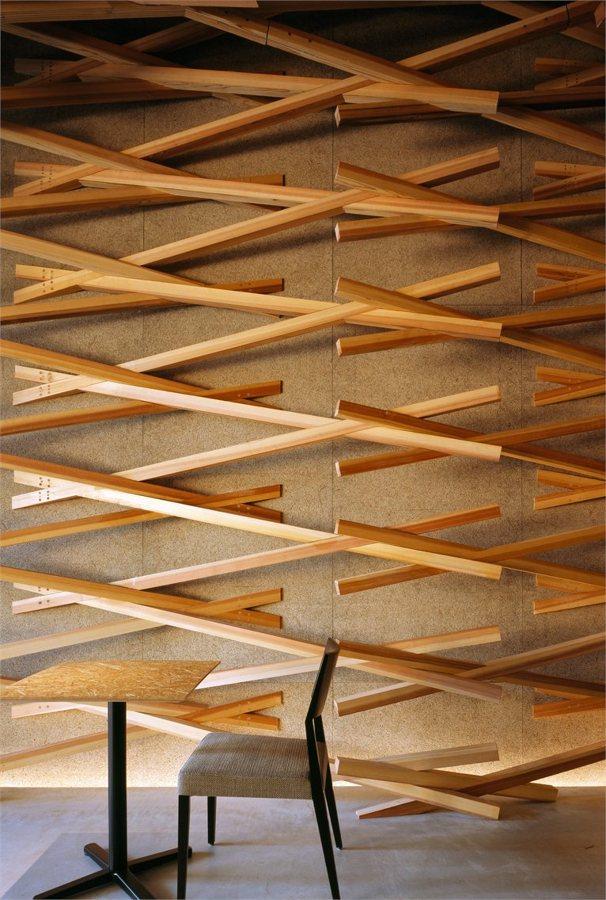 Entramado madera, detalle