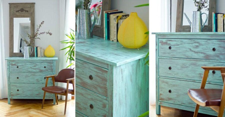 C mo dar efecto envejecido a tus muebles ideas carpinteros for Como restaurar un mueble vintage