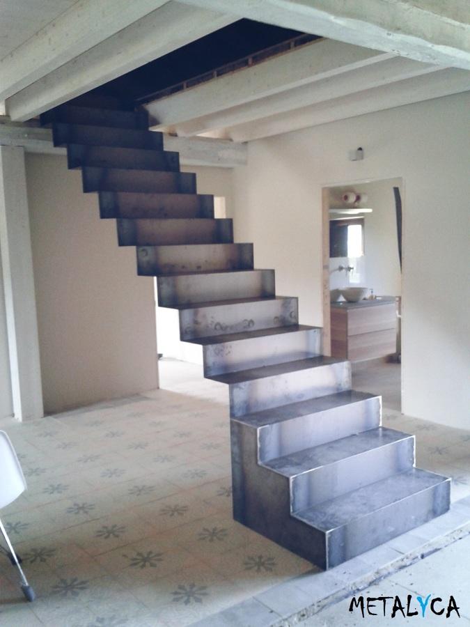 Escalera de acero cor ten ideas carpinter a met lica - Escaleras de acero ...