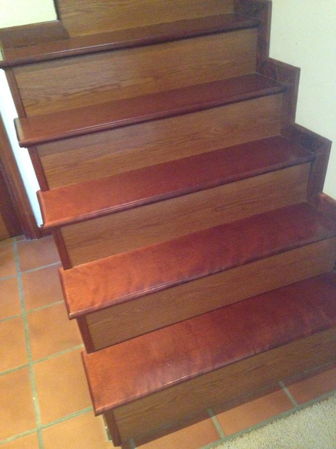 Escalera de madera.