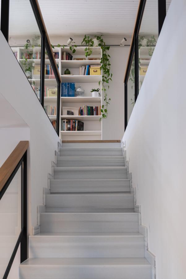 Escalera de mármol de Macael