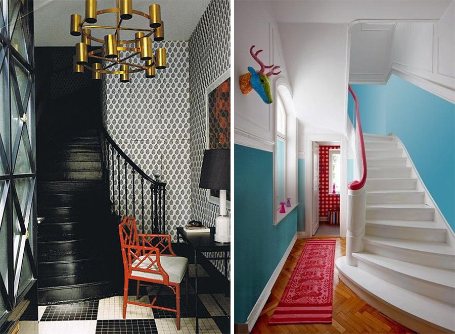 Escaleras pintadas dise o y originalidad pelda o a - Pintura para escaleras ...
