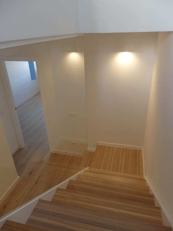 Escalera desde planta superior
