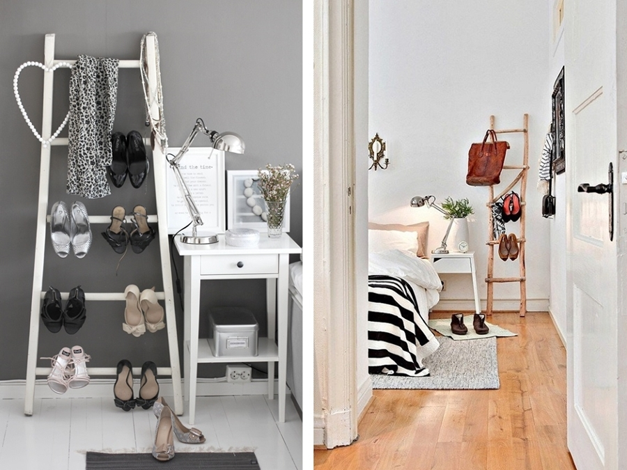 6 originales usos que le puedes dar a una escalera de mano ideas decoradores - Escaleras de madera decorativas ...