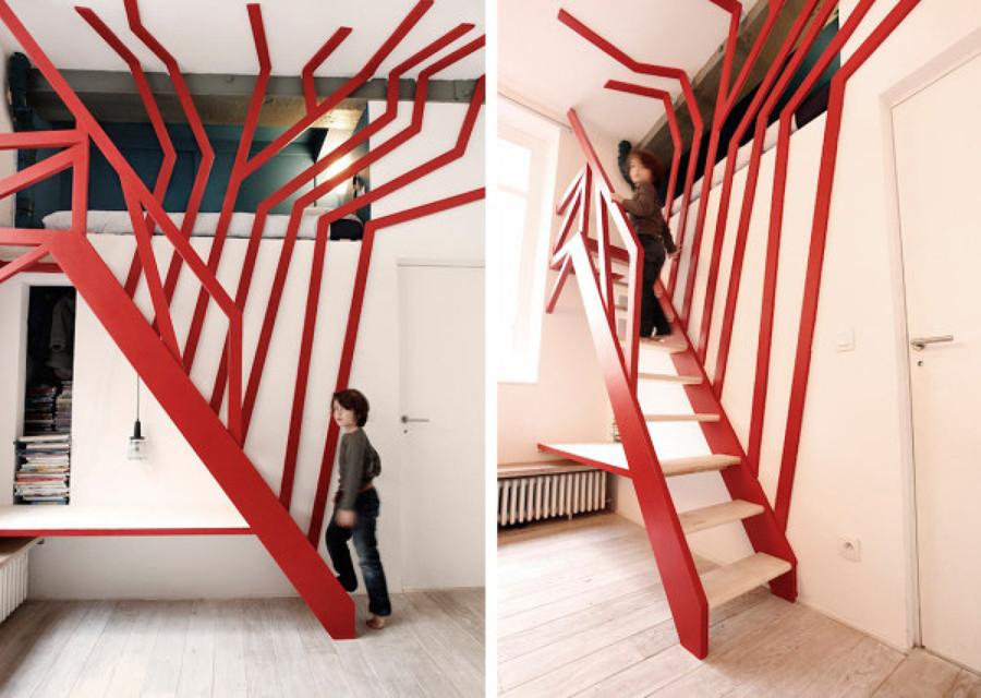escalera que es como una escultura