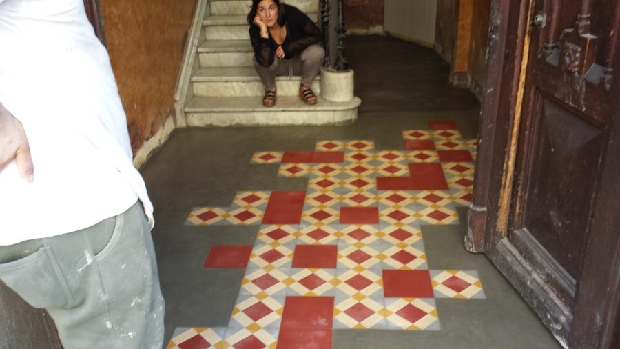 escalera, finca calle balmes 13