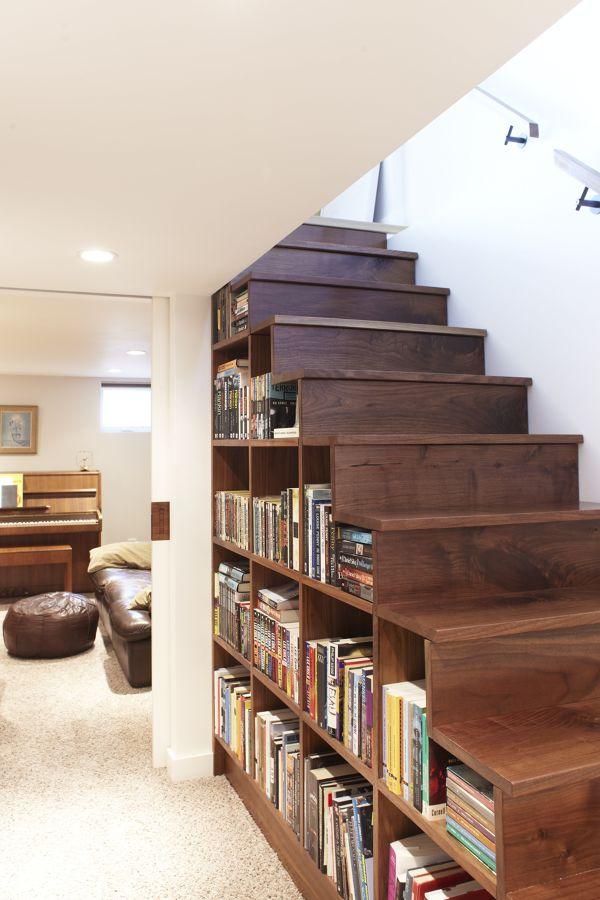 Escalera-librería