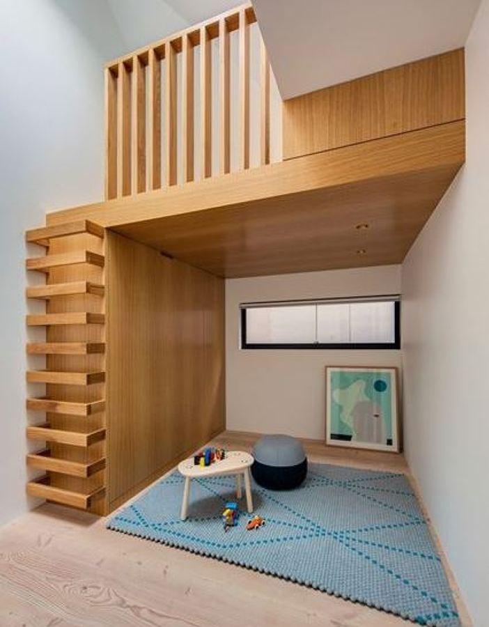 escalera de madera mnima