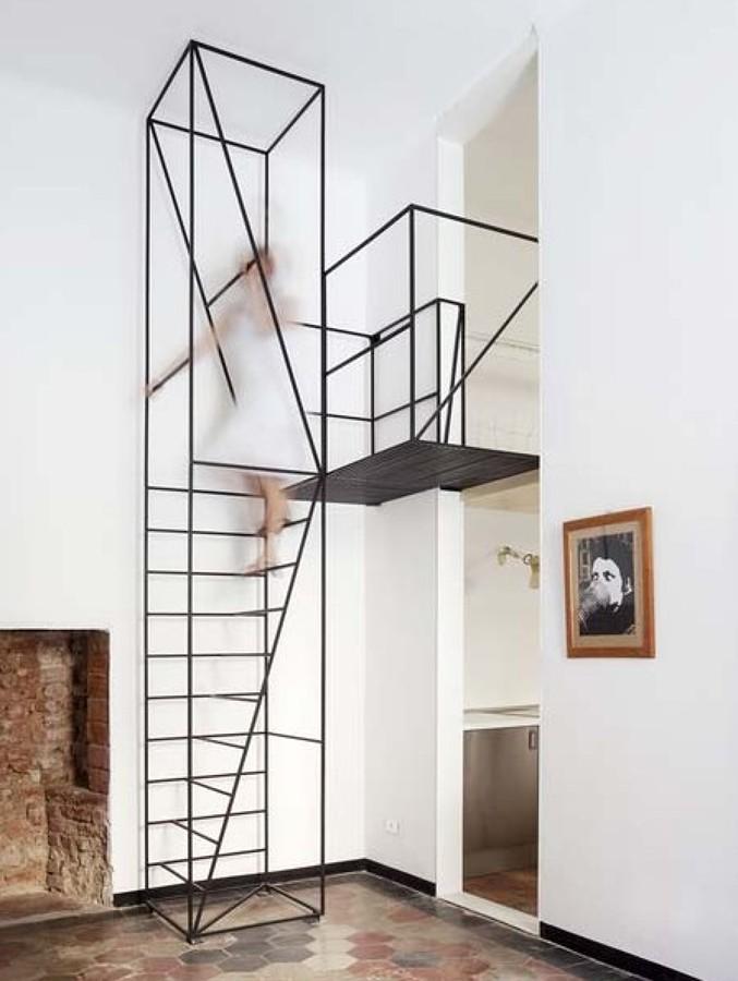 Foto escalera minimalista de reformmia arquitectura y for Escaleras minimalistas interiores